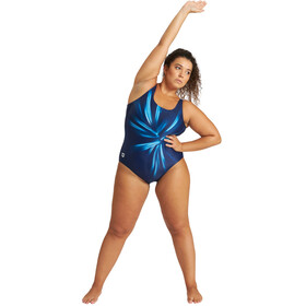 arena Blossom U Back Swimsuit Plus Women navy/martinica multi